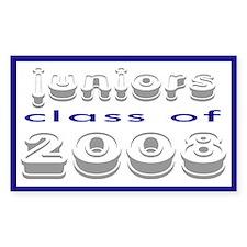 """""""Class of 2008 Juniors"""" Rectangle Decal"""