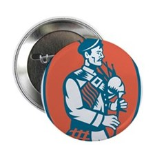 "Scotsman Scottish Bagpipes Retro 2.25"" Button"