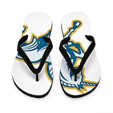 Unicorn Prancing Side Retro Flip Flops