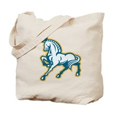 Unicorn Prancing Side Retro Tote Bag