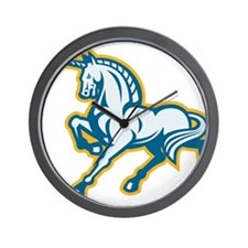 Unicorn Prancing Side Retro Wall Clock