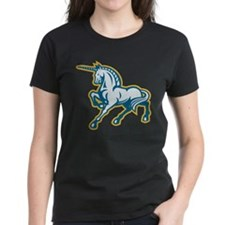 Unicorn Prancing Side Retro Tee