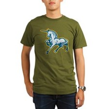 Unicorn Prancing Side Retro T-Shirt