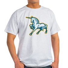 Unicorn Prancing Side Retro T-Shirt
