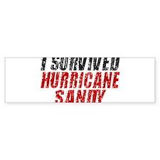 I Survived Hurricane Sandy Distressed Bumper Sticker