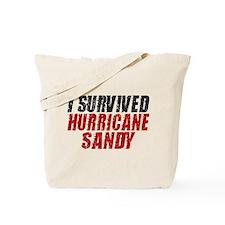 I Survived Hurricane Sandy Distressed Tote Bag