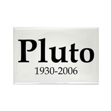 Pluto Dates Rectangle Magnet