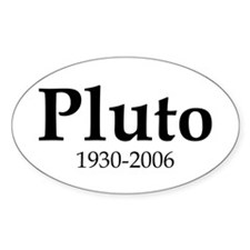 Pluto Dates Oval Decal
