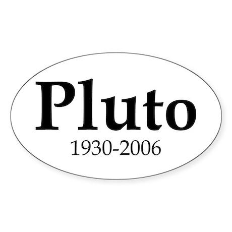 Pluto Dates Oval Sticker