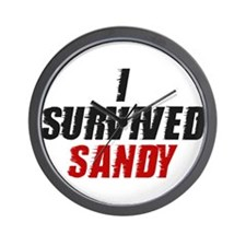 I Survived Hurricane Sandy Wall Clock