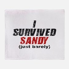 I Survived Sandy (just barely) Throw Blanket