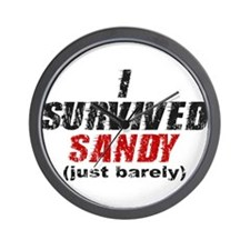 I Survived Sandy (just barely) Wall Clock