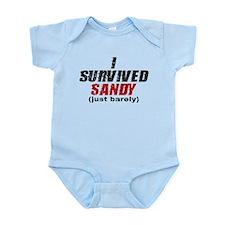 I Survived Sandy (just barely) Infant Bodysuit