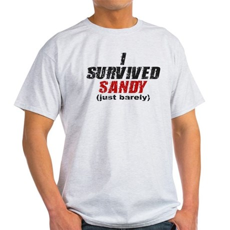 I Survived Sandy (just barely) Light T-Shirt