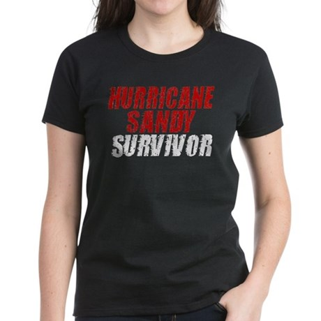 Hurricane Sandy Survivor Women's Dark T-Shirt
