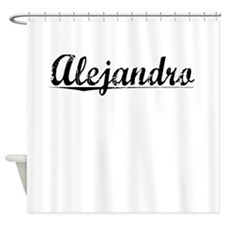 Alejandro, Vintage Shower Curtain