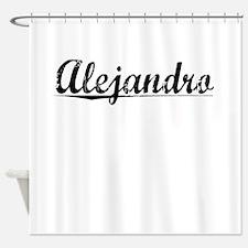 Alejandro, Vintage Shower Curtain