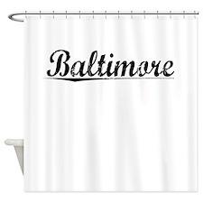 Baltimore, Vintage Shower Curtain