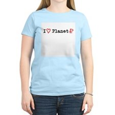 I Heart Planet Pluto Women's Pink T-Shirt