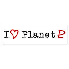 I Heart Planet Pluto Bumper Bumper Sticker