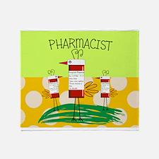 PHARMACIST BIRD TOTE.PNG Throw Blanket