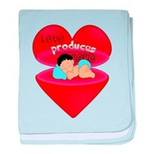 Love Produces Love baby blanket