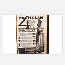 Colliers Michelin Ad 1918 Postcards (Package of 8)