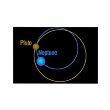 Pluto Neptune Orbits Rectangle Magnet