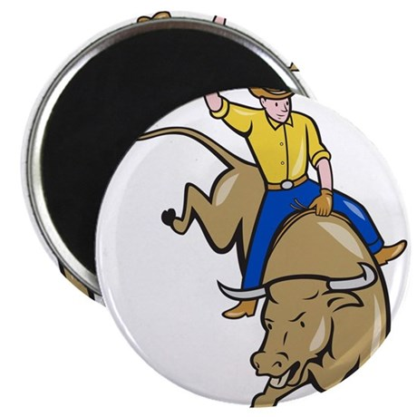 """rodeo-cowboy-bull-riding-front_EPS10.png 2.25"""" Mag"""