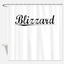 Blizzard, Vintage Shower Curtain