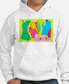 Work Painting Creation Lake Camping Fish Hoodie