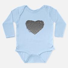 Silver Heart Long Sleeve Infant Bodysuit