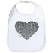 Silver Heart Bib
