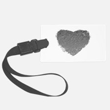 Silver Heart Luggage Tag