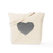 Silver Heart Tote Bag