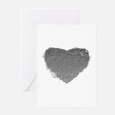 Silver Heart Greeting Cards (Pk of 10)