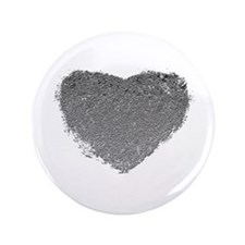 "Silver Heart 3.5"" Button"