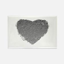 Silver Heart Rectangle Magnet (10 pack)