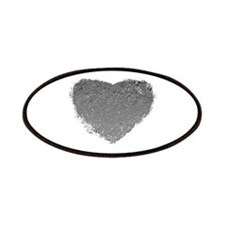 Silver Heart Patches