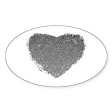 Silver Heart Decal