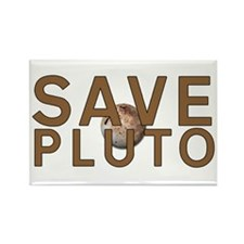 Save Pluto Rectangle Magnet