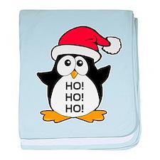 Cute Christmas Penguin baby blanket