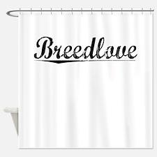 Breedlove, Vintage Shower Curtain