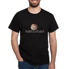 Pluto is a Planet Black T-Shirt