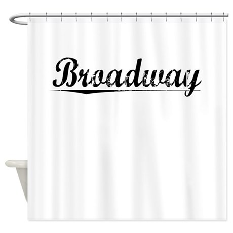 Broadway, Vintage Shower Curtain