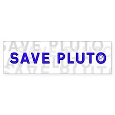 Save Pluto (w/Symbol) Bumper Bumper Sticker
