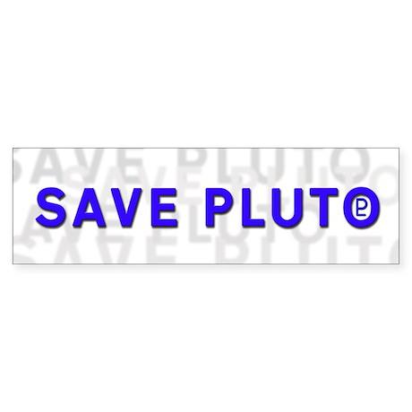 Save Pluto (w/Symbol) Bumper Sticker