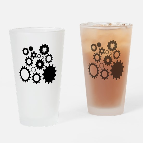 Cute Mechanics Drinking Glass