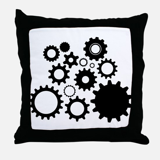Cute Mechanics Throw Pillow