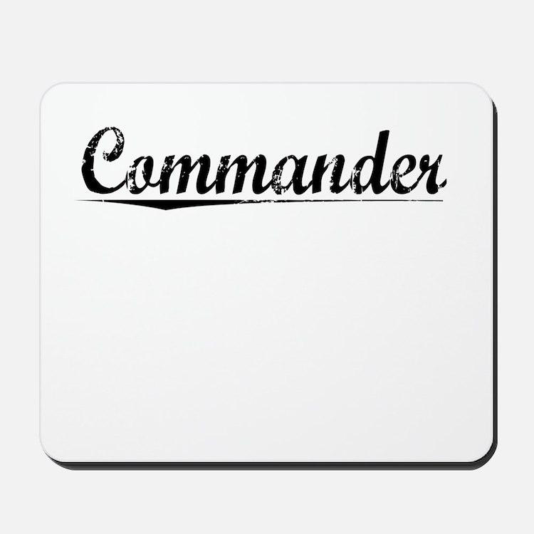 Commander, Vintage Mousepad